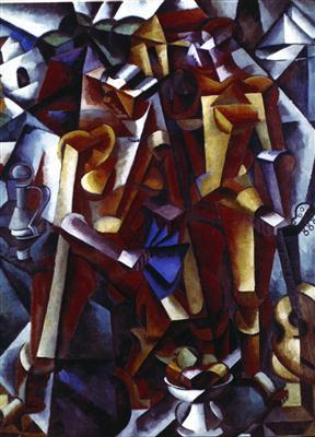 Composition with Figures by Lyubov Papova