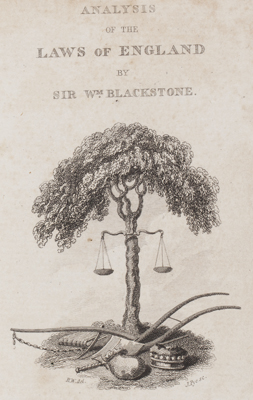 Blackstone's Analysis of the Laws of England (1821)