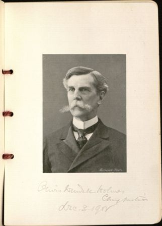 Justice O.W. Holmes Jr., autographed copy of farewell dinner menu