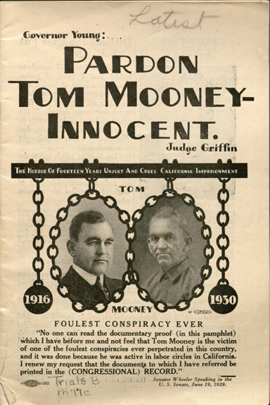 pardon Tom Mooney-innocent