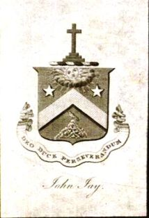 Bookplate of John Jay, first Chief Justice of the U.S. Supreme Court