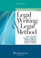 A Practical Guide to Legal Writing & Legal Method