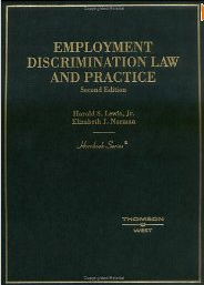 Employment Discrimination Law and Practice