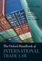 The Oxford Handbook of International Trade Law