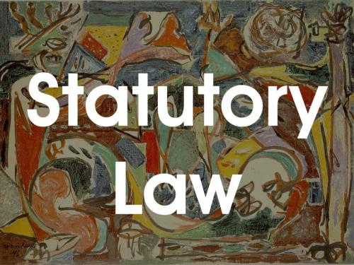 statutory law vs common law