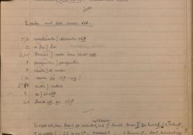 Page from a notebook belonging to Stephan Kuttner, listing variant readings in texts of the Council of Trent.
