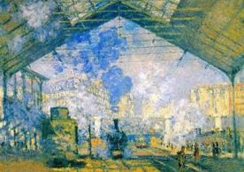 Gare Saint-Lazare by Claude Monet (1877)