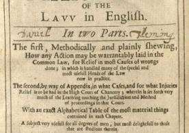 The faithful councellor, or, The marrow of the lavv in English, bound with The second part of The faithfull councellour ... (London, 1653-54)