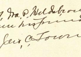 John C. Townes inscription to Ira P. Hildebrand