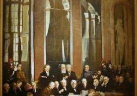 Signing of the Treaty of Versailles, 1919, Oil on canvas by John Christen Johansen