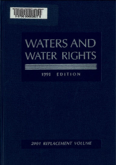 Waters and Water Rights