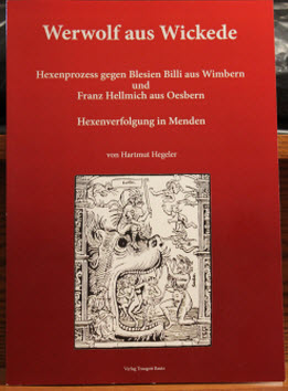 "Photograph of the cover of ""Werwolf aus Wickede."""
