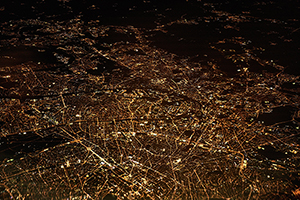 Paris at Night from Above by Dennis Kummer via https://unsplash.com/photos/52gEprMkp7M