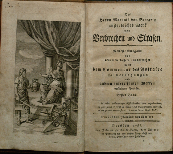 beccaria on crimes and punishments Lombroso and beccaria on crime briefly put beccaria believed that punishment of crime should be [1764], on crimes and punishment and other writings.