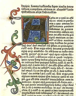 "Illuminated initial ""A"", Germany, 1479."