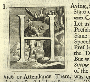 "Engraved initial ""H"", England, 1711."