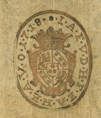 Armorial stamp, ABCNY L962 1538 flat