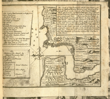 Map of Fort Lorenzo, Panama (1740)