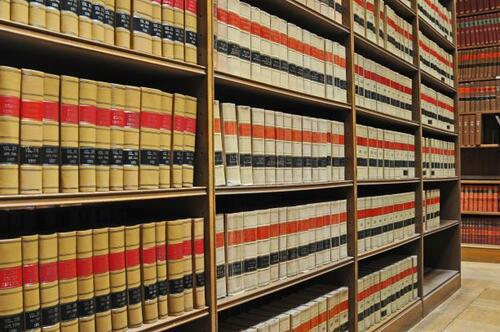 picture of law books in stacks