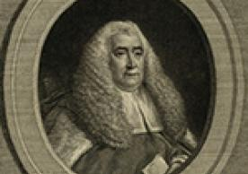 Portrait of William Blackstone, from Commentaries on the Laws of England (London, 1774).