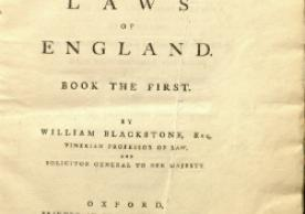 Blackstone's Commentaries (1765)