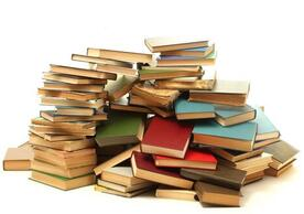 Picture of a pile of books