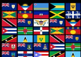 Images of flags of caribbean countries